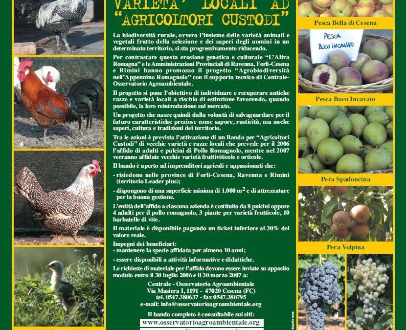 Agrobiodiversità dell'Appennino Romagnolo e Agrobiodiversità in Provincia di Forlì-Cesena